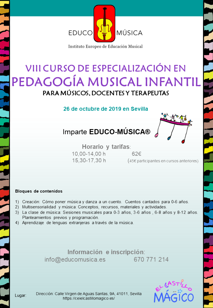 VIII Curso de Especialización en Pedagogía Musical Infantil